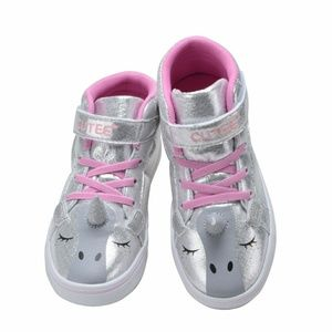 Other - Girls Toddlers Grey & Pink Metallic Accent Sneaker